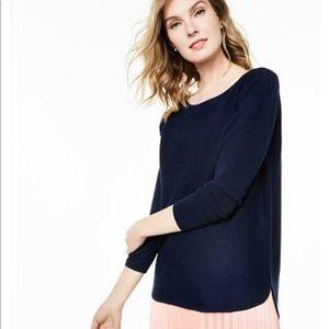 NWT 100% cashmere navy sweater Macy's xlarge